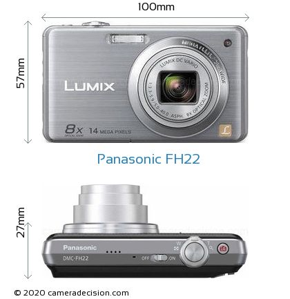 Panasonic FH22 Body Size Dimensions