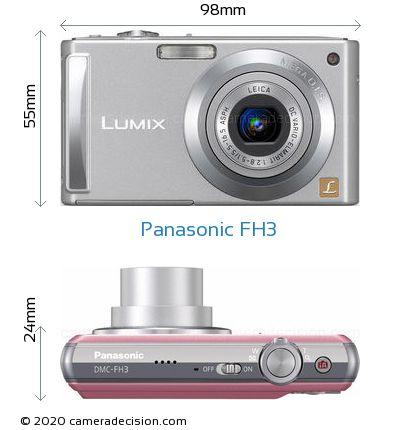 Panasonic FH3 Body Size Dimensions