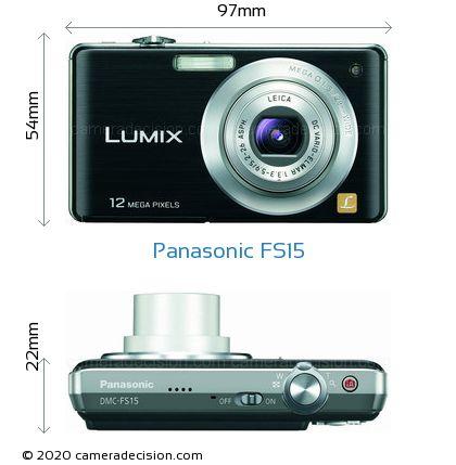Panasonic FS15 Body Size Dimensions
