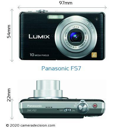 Panasonic FS7 Body Size Dimensions