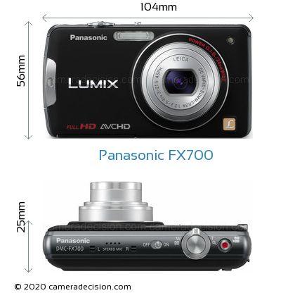 Panasonic FX700 Body Size Dimensions