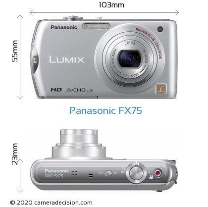 Panasonic FX75 Body Size Dimensions