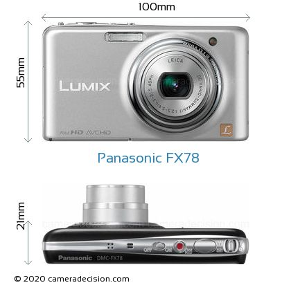 Panasonic FX78 Body Size Dimensions