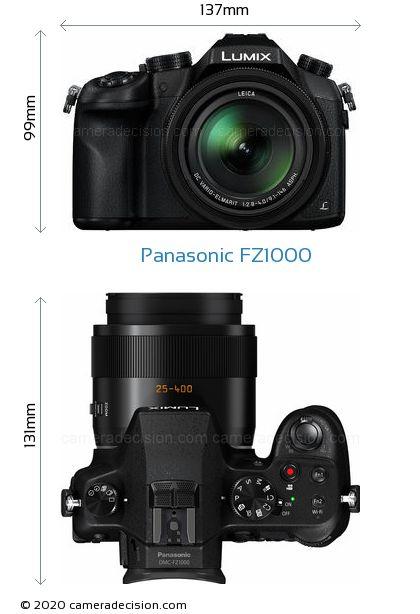 Panasonic FZ1000 Body Size Dimensions