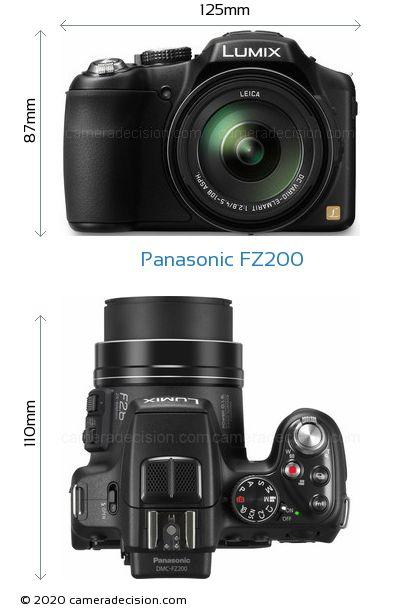 Panasonic FZ200 Body Size Dimensions