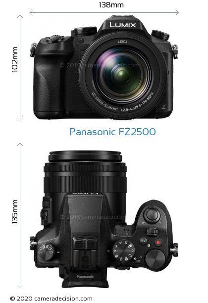 Panasonic FZ2500 Body Size Dimensions