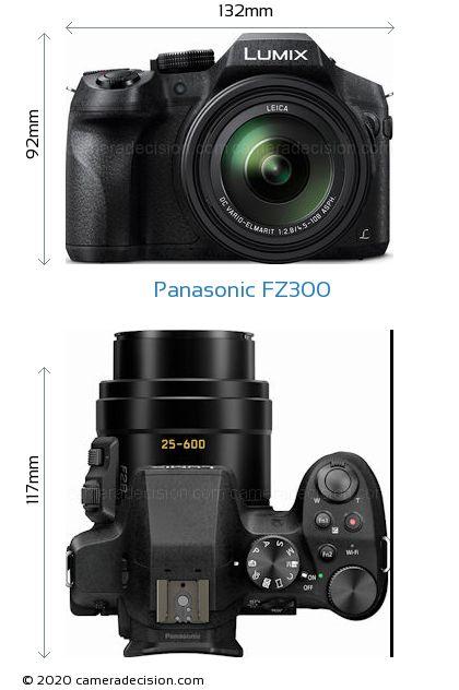 Panasonic FZ300 Body Size Dimensions