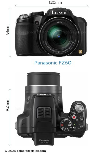 Panasonic FZ60 Body Size Dimensions