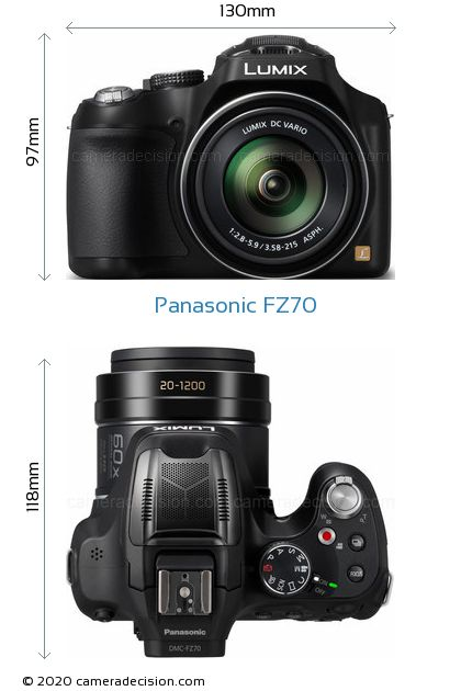 Panasonic FZ70 Body Size Dimensions