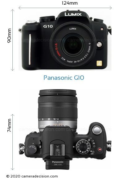 Panasonic G10 Body Size Dimensions