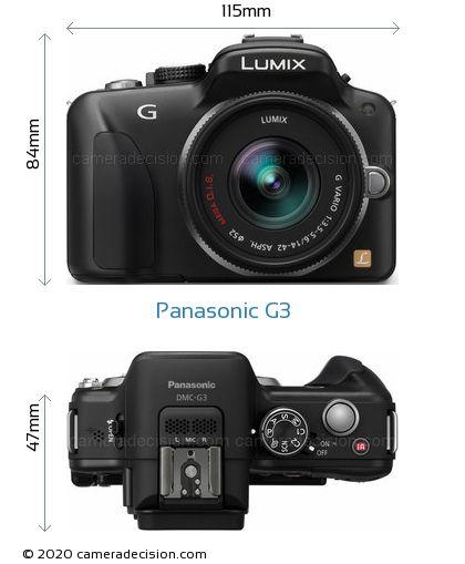 Panasonic G3 Body Size Dimensions