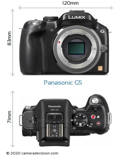 Panasonic G5 Body Size Dimensions