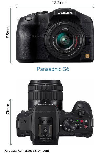 Panasonic G6 Body Size Dimensions