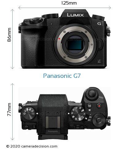 Panasonic G7 Body Size Dimensions