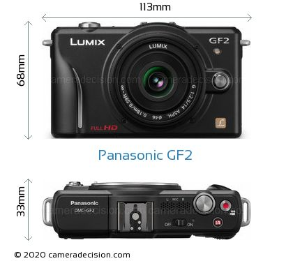 Panasonic GF2 Body Size Dimensions