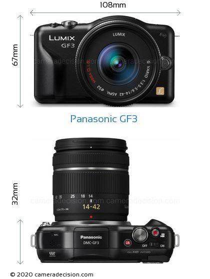 Panasonic GF3 Body Size Dimensions
