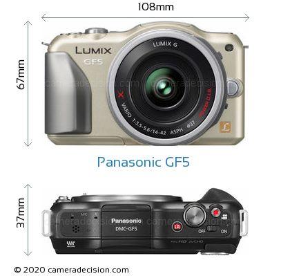 Panasonic GF5 Body Size Dimensions