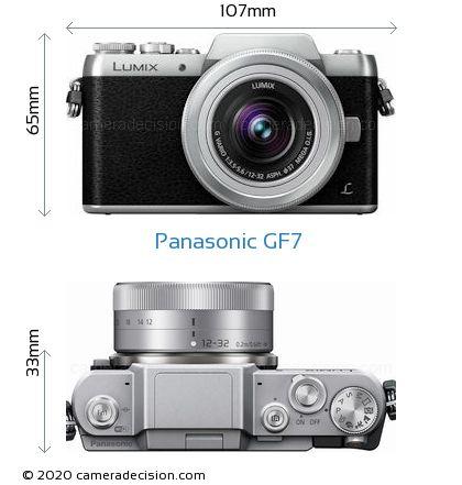 Panasonic GF7 Body Size Dimensions