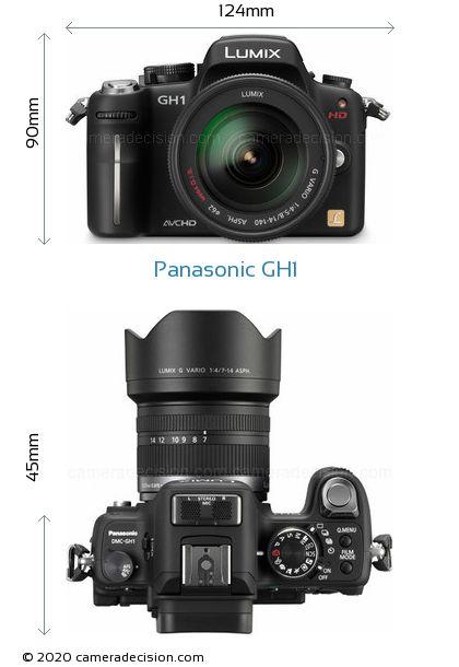 Panasonic GH1 Body Size Dimensions