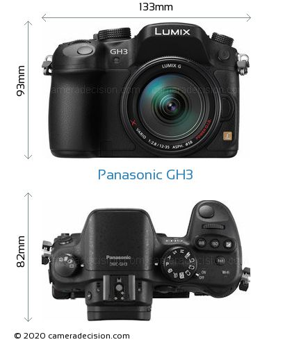 Panasonic GH3 Body Size Dimensions