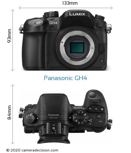 Panasonic GH4 Body Size Dimensions