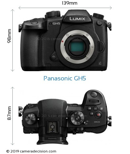 Panasonic GH5 Body Size Dimensions