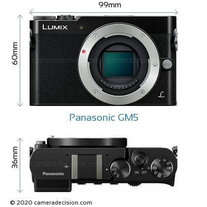 Panasonic GM5 Body Size Dimensions