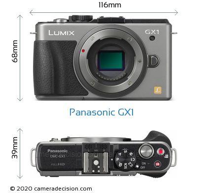 Panasonic GX1 Body Size Dimensions