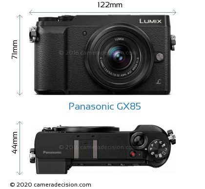 Panasonic GX85 Body Size Dimensions