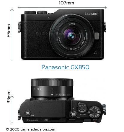 Panasonic GX850 Body Size Dimensions