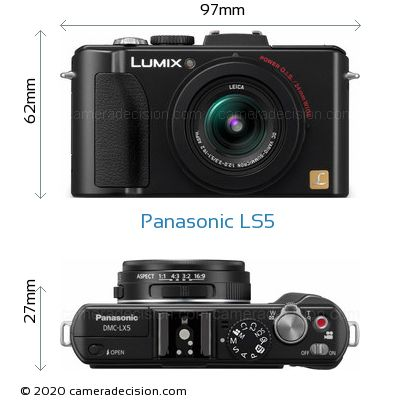 Panasonic LS5 Body Size Dimensions