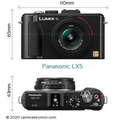 Panasonic LX5 Body Size Dimensions
