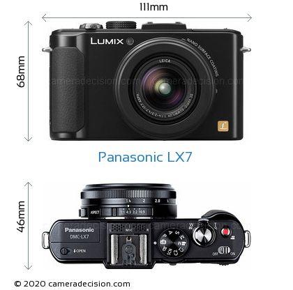 Panasonic LX7 Body Size Dimensions