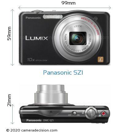 Panasonic SZ1 Body Size Dimensions