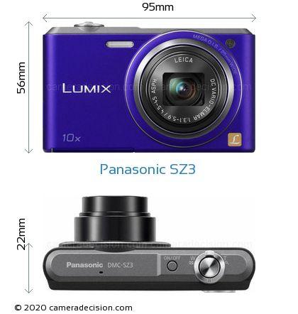 Panasonic SZ3 Body Size Dimensions