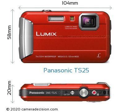 Panasonic TS25 Body Size Dimensions