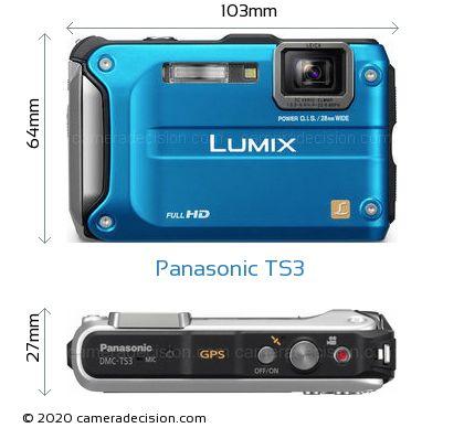 Panasonic TS3 Body Size Dimensions