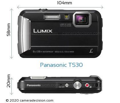 Panasonic TS30 Body Size Dimensions