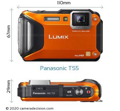 Panasonic TS5 Body Size Dimensions