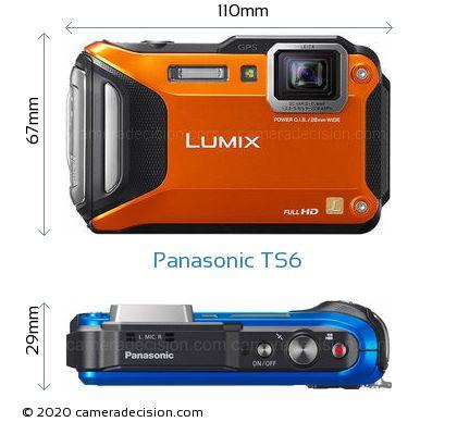 Panasonic TS6 Body Size Dimensions