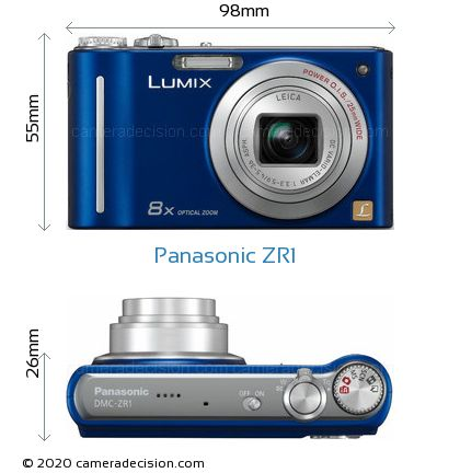 Panasonic ZR1 Body Size Dimensions