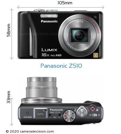 Panasonic ZS10 Body Size Dimensions
