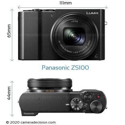 Panasonic ZS100 Body Size Dimensions