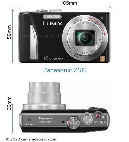 Panasonic ZS15 Body Size Dimensions
