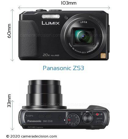 Panasonic ZS3 Body Size Dimensions