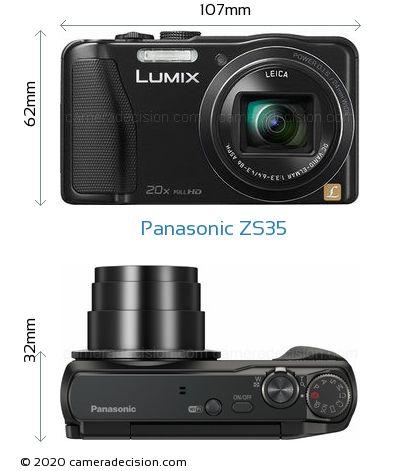 Panasonic ZS35 Body Size Dimensions