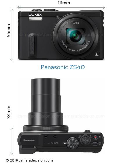 Panasonic ZS40 Body Size Dimensions