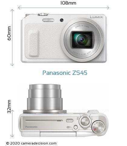 Panasonic ZS45 Body Size Dimensions