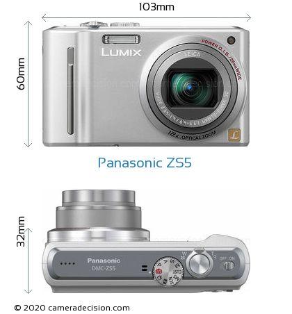 Panasonic ZS5 Body Size Dimensions