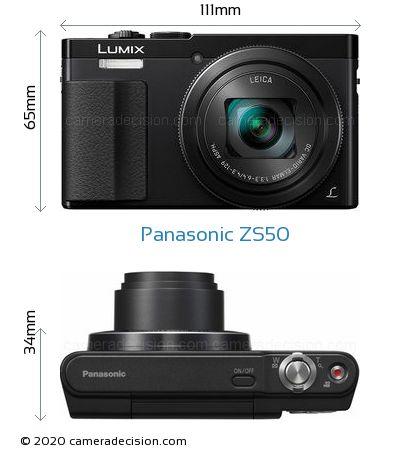 Panasonic ZS50 Body Size Dimensions
